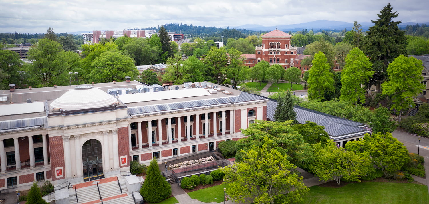 oregon state university campus aerial