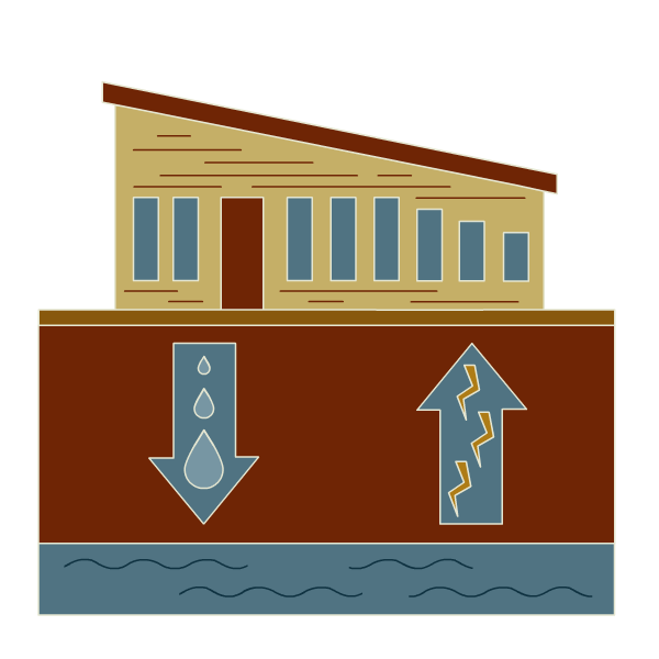 illustration of Cascades building using less water and saving more electicity