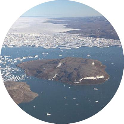 aerial photo of glacier