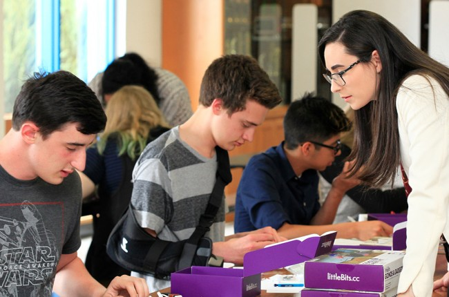 Moriah Shay teaching high school students entrepreneurship skills